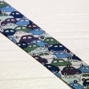 Bias tape Liberty Cars blue
