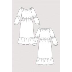 Named - Marie Gathered Midi Dress