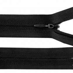 Invisible closed-end zip - black
