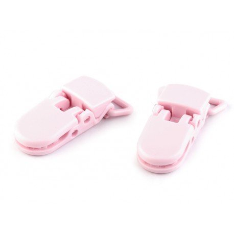 Pacifier clip pink