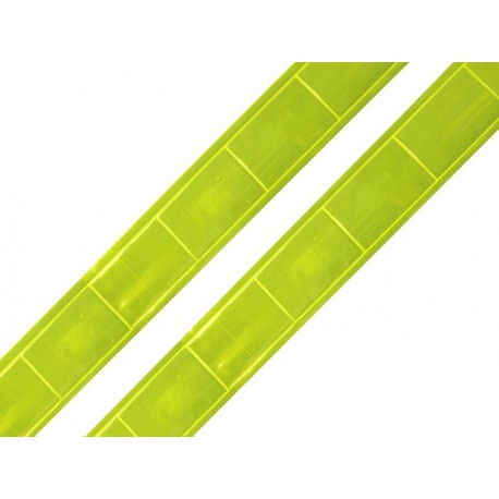 Reflective webbing tape yellow