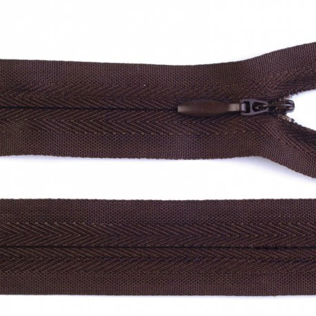 Invisible closed-end zip - brown