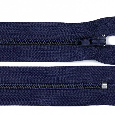 Invisible closed-end zip - navy