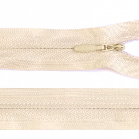 Invisible closed-end zip - off white
