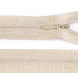 Invisible closed-end zip - beige