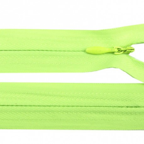 Invisible closed-end zip - green