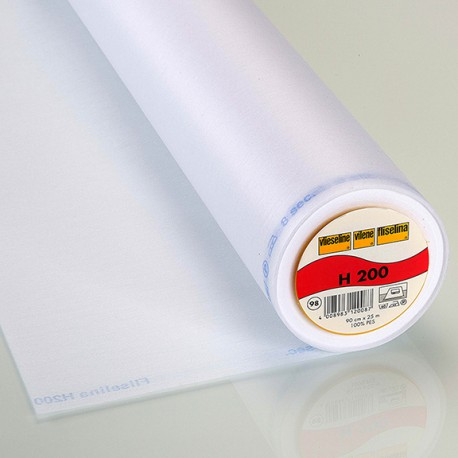 Vlieseline H200 - Fusible interlining white